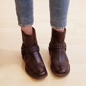 Frye Phillip Studded Harness Short Boots 8.5